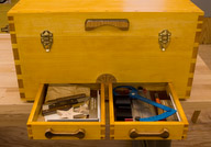Drawers packed with measuring devices