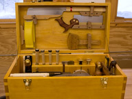 Tool chest front view open