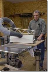 The drum sander is used to finish dimension.