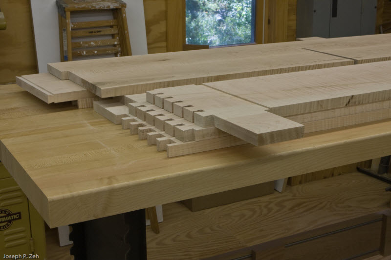 Many types of joinery are used in this design.