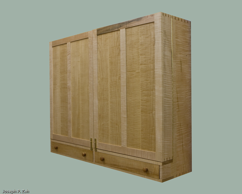 Wall Hanging hand Tool Cabinet - Doors Closed