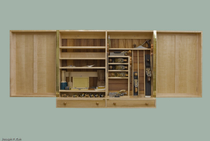 Wall Hanging Hand Tool Cabinet - Doors Open