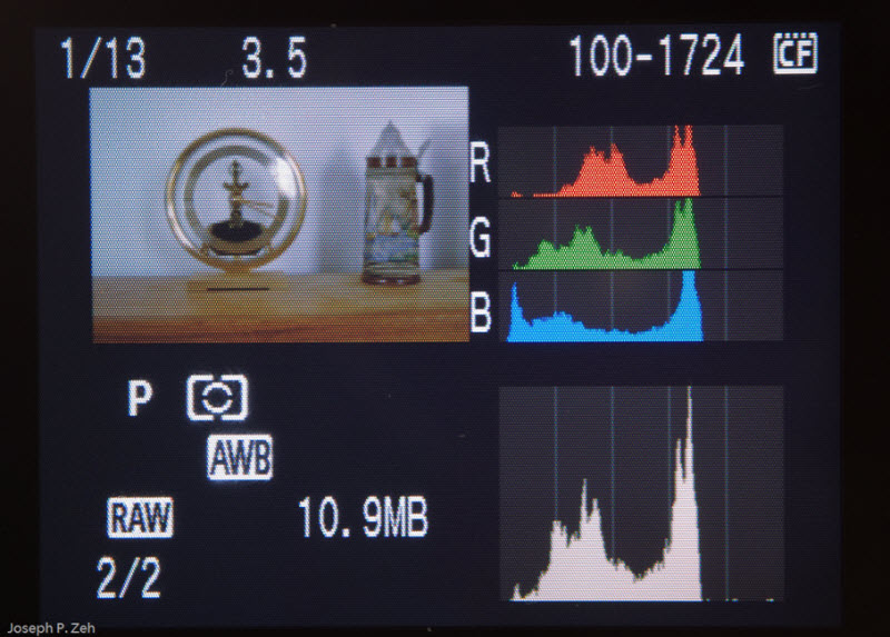Small Image, RGB & Brightness Histogram