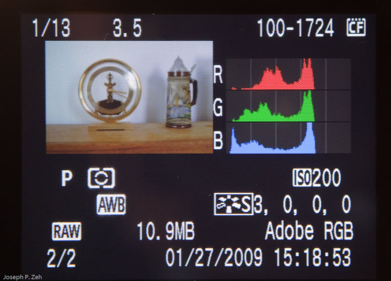 Small Image &amp; RGB Histogram