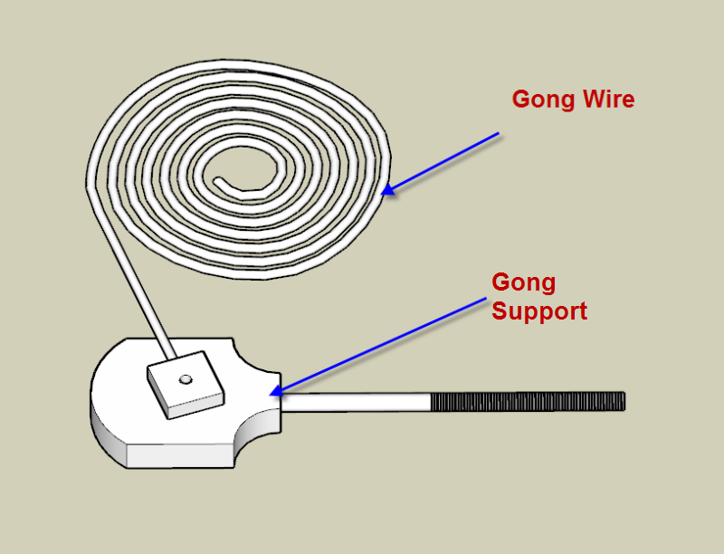 SketchUp Model Of The Gong Wire & Gong Support