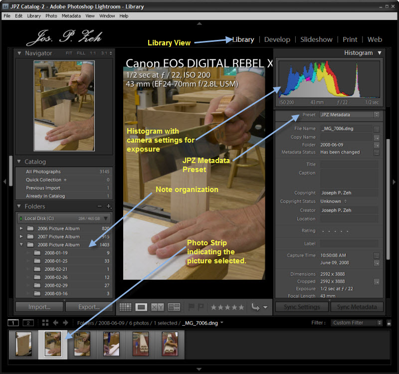 The Lightroom 2.0 Library View