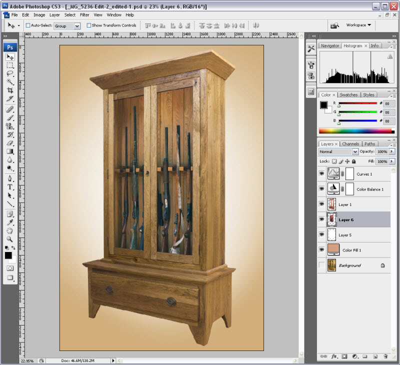 The Finished Gun Cabinet Photo With Guns Inside