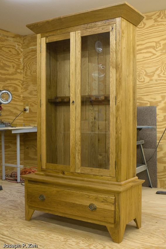 Gun Cabinet In My Shop With Doors Closed