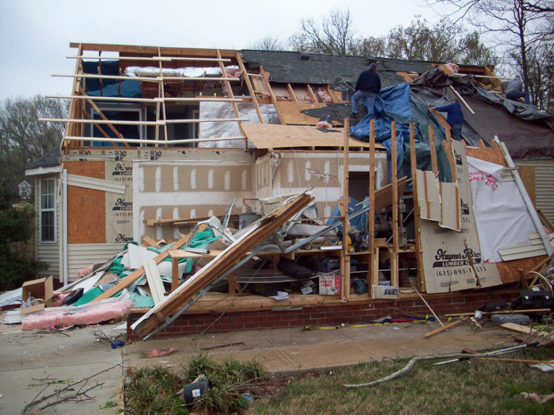 Dianna, Mark & Edie's Home After It Was Visited By A Tornado