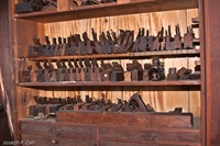 Wooden Hand Planes Of All Shapes &amp; Sizes - Notice The Long Jointer