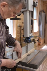 The Triple Bead Stock Is Split Down The Middle With The Band Saw