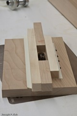 Scrap Wood And Double Sided Sticky Tape Form A Template