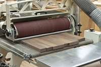 Thickness Planing With A Drum Sander - The Top Is Open For Visibility