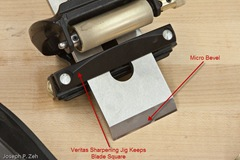 Sharpening A Lie-Nielsen Bevel-Up Blade Requires A Jig Like The Veritas To Maintain A Right Angle