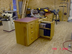 Chop Saw Station Pull Out Shelves