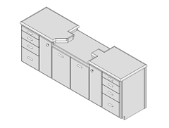 SketchUp Model Of Miter Saw Bench - ISO View