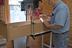 Bessey Bar Clamps Are Used To Hold The Clock In Place