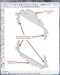 Only Three Different SketchUp Components Are Needed To Complete The Scrollwork