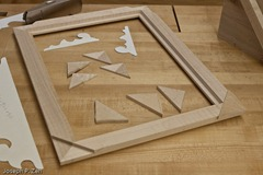 The Weak Corner Pieces Are Cut Out And Roughed Out Long Grain Pieces Will Replace Them