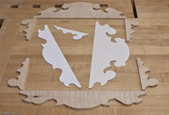 The Templates And Rough Cut Scroll Work