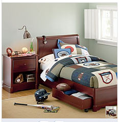 A Sleigh Bed Headboard &amp; Platform Bed Footboard