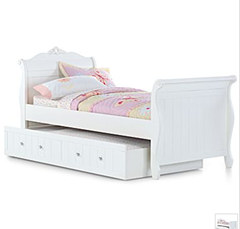 A Simple Sleigh Bed Design Incorporated Into Both Head &amp; Footboard
