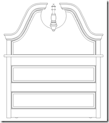 An End View Showing The Headboard & Footboard