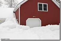 You Can Walk To The Roof On Snow Piled In Front Of My Garage Door