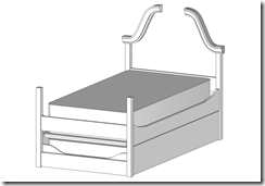 Trundle Bed Sketch Minus Joinery & Panels