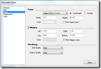 Paper Setup Dialog Box Is Accessed Through The File/ Document Setup Menu