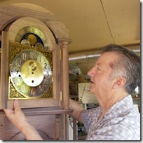 Frank Redmile Adjusting A Longcase