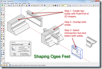 Shaping Ogee Feet With The Intersection Tool