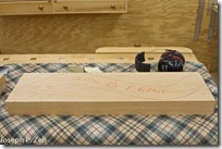 "The Cherry Template Is Traced On 2 1/4"" Thick Stock"