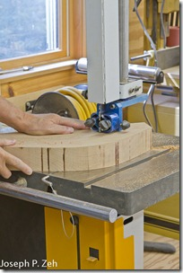 Rough Cutting The Thick Back On The Band Saw