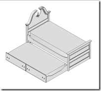 Trundle Bed Shown With The Trundle Out