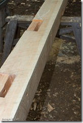 Lots of mortises are needed for a timber frame construction.