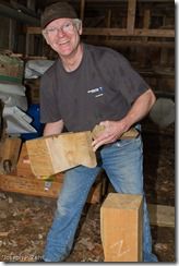 Will Beemer demonstrating the locking dovetail prop.