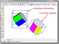 Misaligend and Correctly Aligned Solids