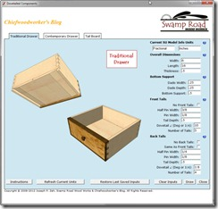 Dovetailed Components Interface Window