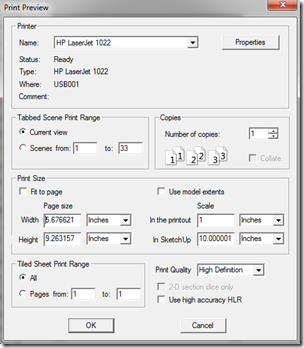 Print Preview Dialog Box with Correct Settings for This Example