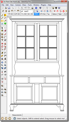 SketchUp Window with Correct Aspect Ratio and White Space