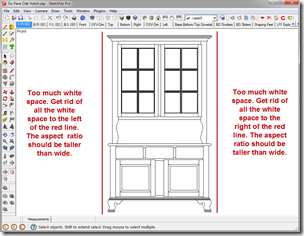 SketchUp Window with Too Much White Space