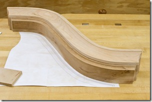 Swan Neck After Milling Next to Head Board Template
