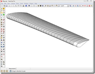 Perspective View of Modeled Wing Skin