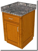 Base Cabinet With Counter Top &amp; Hardware