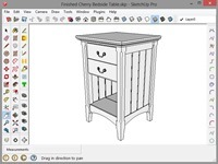 SketchUp Model of the Cherry Bedside Table