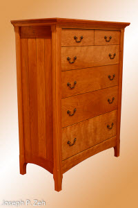 Five Drawer Cherry Dresser