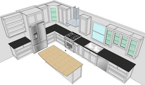 A CabWriter Drawn Kitchen