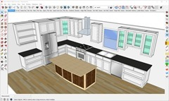 Larson Kitchen Modeled in SketchUp