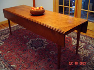 "80"" Shaker drop leaf table."